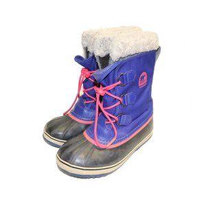Sorel Youth Caribou Purple Winter Waterproof Snow Boots